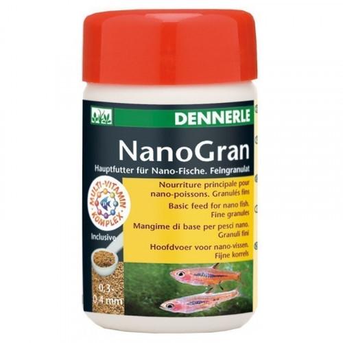 Основний корм Dennerle Nano Gran для невеликих риб, у формі міні-гранул, 100 мл