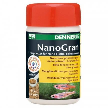 Основний корм Dennerle Nano Gran для невеликих риб, у формі міні-гранул, 100 мл, фото 2