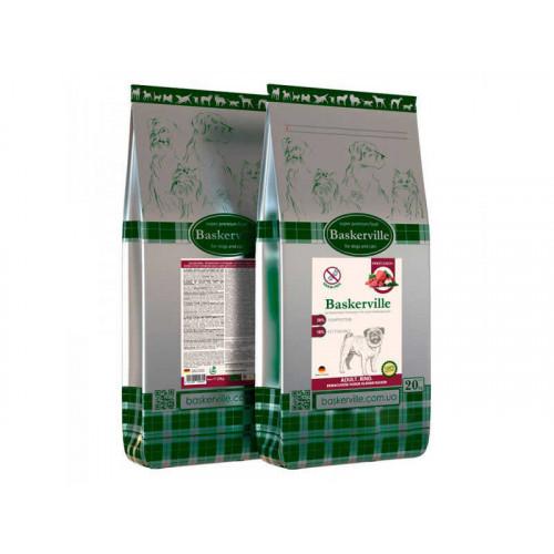 Сухий корм Baskerville HF Adult Rind Getreidefrei Kleine Rassen для дорослих собак дрібних порід, 20 кг