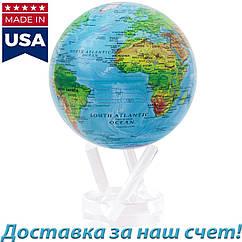 Самовращающийся гиро-глобус Mova Globe Физическая карта мира (3 размера)