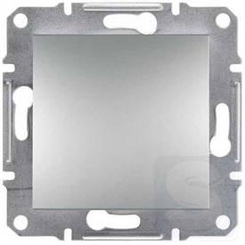 Вимикач 1-клавішний , 10А , алюміній , Asfora