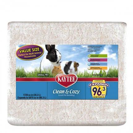 Подстилка Kaytee Clean&Cozy White для грызунов, целлюлоза, белая, 4.1 л, фото 2