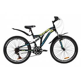 Велосипед 24 Discovery ROCKET 2020 (черно-желтый с бирюзовым (м))OPS-DIS-24-189