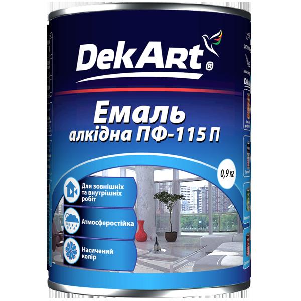 DekArt Емаль алкідна ПФ-115П біла глянсова - 0.9(кг)