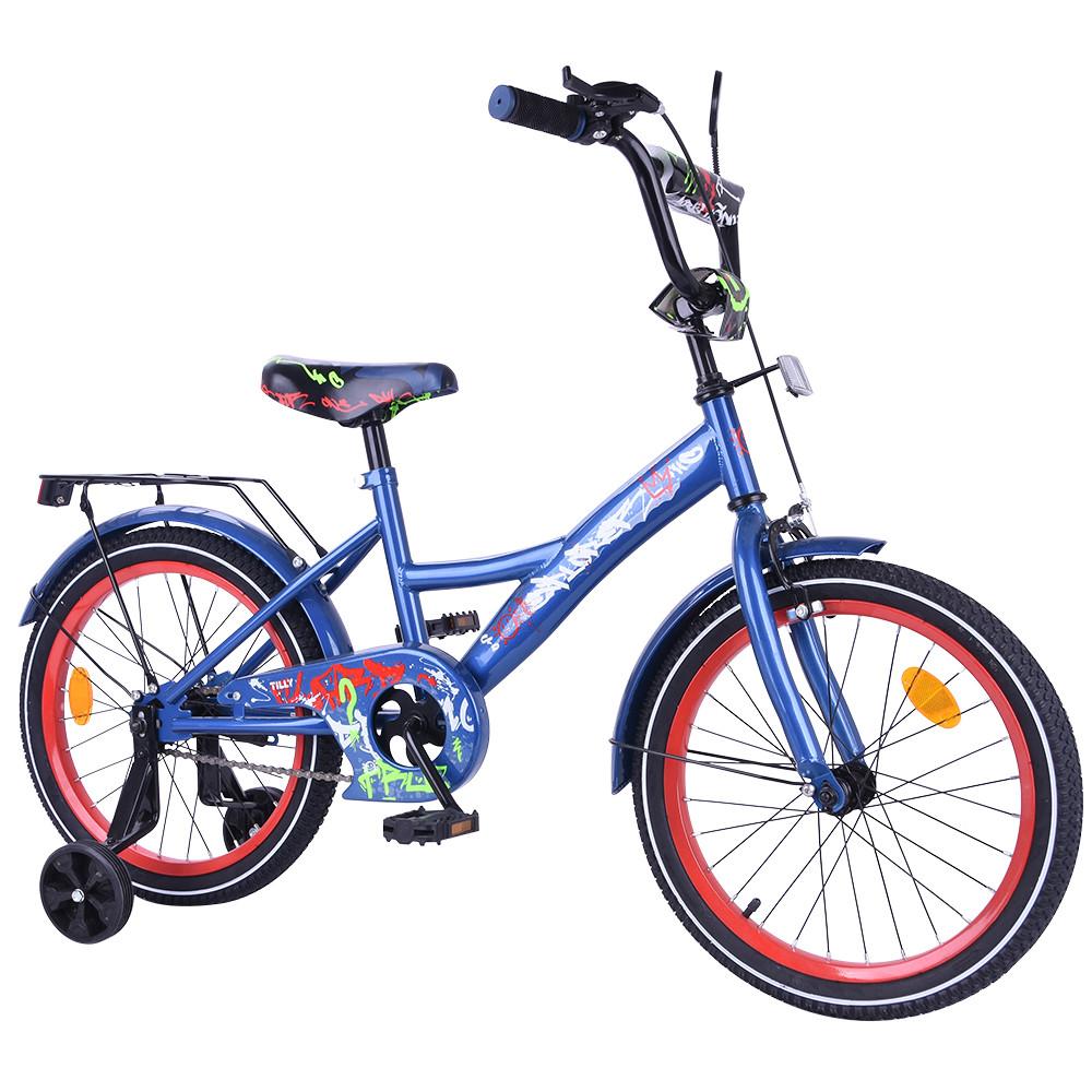 Велосипед детский двухколесный EXPLORER 18 дюймов T-218114 blue_red