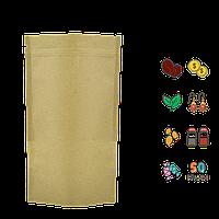 Упаковка для кофе и чая Doypack 50г 10шт. крафт+РЕ 100х170х30 zip-замок