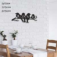 "Декор для стен. Панно из металла ""Love"""