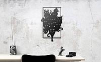 """Декор для стен. Панно из металла """"Стая котов"""""""