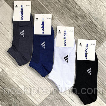 Носки мужские спортивные хлопок с сеткой короткие Adidas, Германия, 41-45 размер, ассорти, 12656