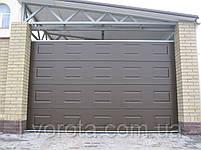 Ворота гаражные секционные DoorHan 2500×2100 (дизайн филенка, вет венге), фото 2