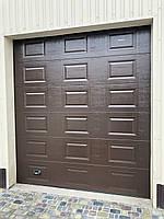 Ворота гаражные секционные DoorHan 2500×2100 (дизайн филенка, вет венге), фото 3