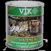 "ТМ ""VIK""Фарба по металу текстурна Hammer 104(сірий) 0.75 л (шт.)"