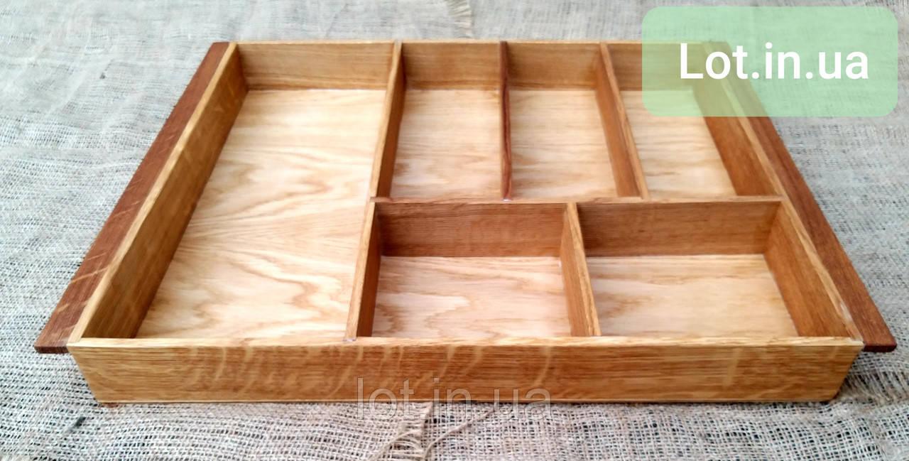 Деревянный лоток для столовых приборов Lot a906 400х500. (индивидуальные размеры)