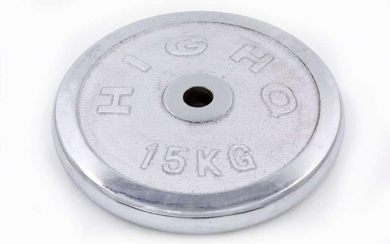 Диски (пара) хром 15 кг d-30 мм ТА-1455 -15