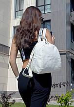 """Рюкзак """"Stefany"""" 02 белого цвета с вышивкой"""