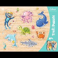 Пазл Trefl Розвиваючий Рамковий Морські тваринки