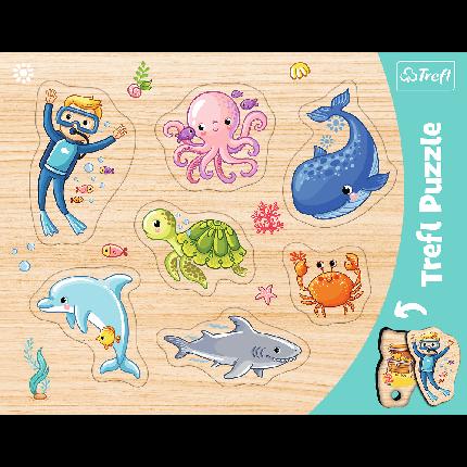 Пазл Trefl Розвиваючий Рамковий Морські тваринки, фото 2