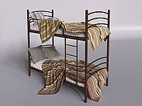 Двухъярусная кровать Маранта Тенеро 90х200 см металлическая темного цвета