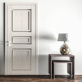 Двері ATLANTIC A004. Полотно+коробка+1 до-т лиштв, зрощений брус сосни, еко-шпон, фото 2