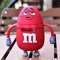 Термос детский с трубочкой M&Ms (Красный)