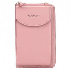 Женский кошелек портмоне клатч 3-в-1 Baellerry N8591 Light Pink