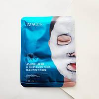 Тканевая кислородная очищающая маска IMAGES Amino Acid Bamboo Charcoal Bubble Mask