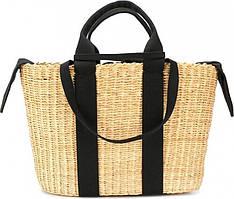 Чорна плетена сумка George у вигляді кошика