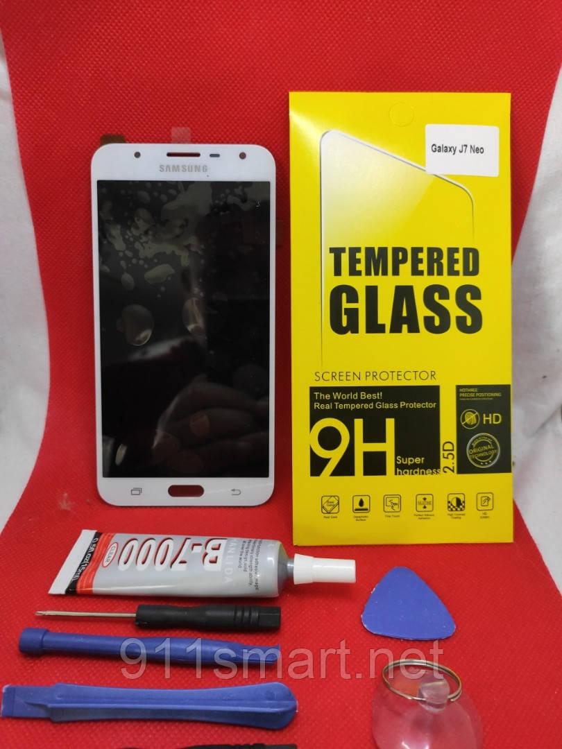 Модуль, дисплей, экран Samsung Galaxy J7 neo J701 белый