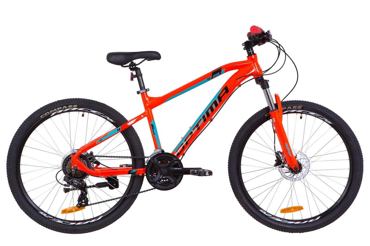 """Горный велосипед 26"""" Optimabikes F-1 HDD 2020 (оранжево-бирюзовый)"""