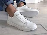 Кожаные кроссовки Puma  (реплика),белые, фото 4