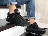Мужские кожаные кроссовки Reebok,черные, фото 3