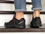 Мужские кожаные кроссовки Reebok,черные, фото 4