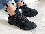 Мужские кожаные кроссовки Reebok,черные, фото 5