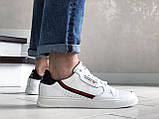 Мужские кожаные кроссовки Adidas,белые, фото 2