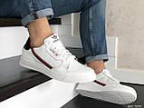 Мужские кожаные кроссовки Adidas,белые, фото 3