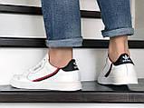 Мужские кожаные кроссовки Adidas,белые, фото 4
