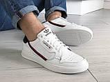 Мужские кожаные кроссовки Adidas,белые, фото 5
