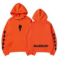 Толстовка в стиле Billie Eilish (Билли Айлиш) оранжевая унисекс