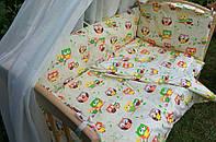 Бортики защита постельное в детскую кроватку красивые расцветки