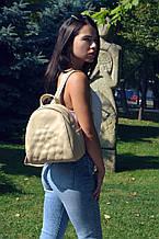 "Рюкзак ""Stefany"" 09 светло - бежевого цвета с вышивкой"