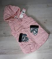 Стёганные,стильные безрукавки для девочек .Размеры 134-158 см.Фирма S&D.Венгрия