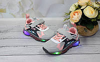 Стильные кроссовки для девочек с  LED - подсветкой