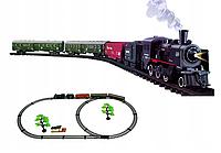 Железная дорога с паровозом и дымом Rail King 19031-2 165 см для маленьких машинистов