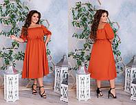 Лёгенькое  платье из софта, с завышенной талией, с кулиской,можно регулировать объём талии  (48-62), фото 1