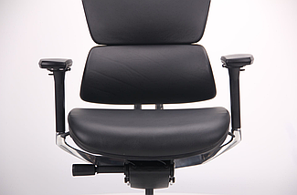 Кресло Crystal PRO Alum, Black leather TM AMF, фото 3