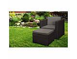 Садове крісло з додатковим столиком та подушкою PROVENCE CHILLOUT SET темно-коричневий ( Keter ), фото 10