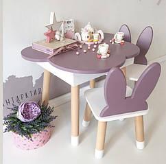 Деревянный стол с пеналом (внутренняя полочка). 100% дерево массив бук