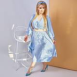 Платье в горох сарафан солнце клеш пояс в комплекте еврософт размер: 48/50 (2хл); 52/54 (4 хл); 56/58 (6, фото 2