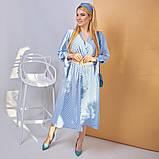Платье в горох сарафан солнце клеш пояс в комплекте еврософт размер: 48/50 (2хл); 52/54 (4 хл); 56/58 (6, фото 4