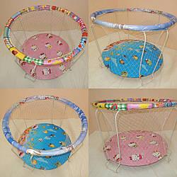 Игровой Манеж круглый Китти детский  Крупная сетка Голубой